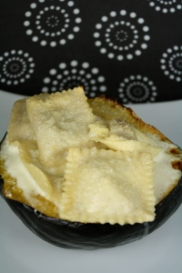 Tyler Florence's tortellini stuffed acorn squash